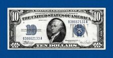 Fr.1704  $10  1934 C  SILVER CERTIFICATE NOTE  B 38662133 A  ABOUT UNCIRCULATED