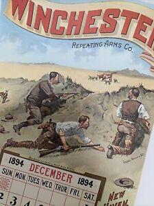 Winchester Ammunition 1894 Calendar Print Frederic Remington
