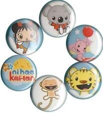 Ni Hao Kai-Lan: Set of 6 Pins-Buttons-Badges Nick Jr Birthday Party Favors
