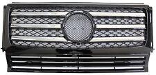 Mercedes Benz G-Class W463 90-12 Front Grille G500 G550 G55 AMG Chrome & Black