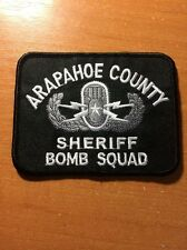 PATCH SHERIFF ARAPAHOE COUNTY - BOMB SQUAD - original sticker - COLORADO state