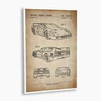 Decor POSTER of vintage Patent.Corvette 1968.Room Office Home Art Design.6791