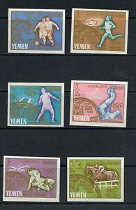 S547 Yemen 1965 Olympics IMPERF 6v. MNH