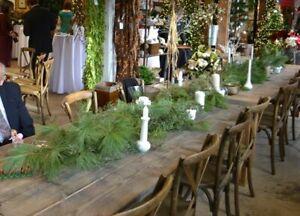 "20 Fresh Real Boughs 15"" Red & White Pine Evergreen Winter Wedding Bridal Shower"