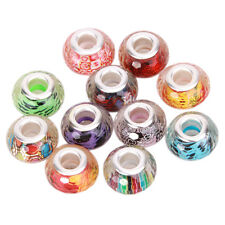 20pcs Mixed Clear Color Faceted Resin Charms Beads Fit European Bracelet DIY BS