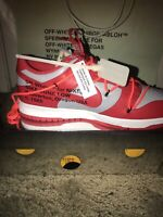 🔥100% Authentic NEW Nike Dunk Low Off-White UNLV 11.5 University Red