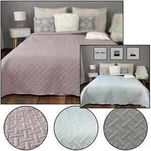 Tagesdecke Bettüberwurf Kuscheldecke Überwurf Wohndecke Steppdecke Doppelseitig
