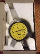 Mitutoyo 0 1mm Metric Balanced Dial Indicator 2109 11 Yellow Face Rare