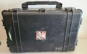 Pelican 1650 Hard Case Black w/ Wheels Travel Heavy Duty Waterproof Protector