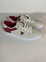 G by Guess Womens Sz 10 M  Lace Up Leather Casual  Sneakers Shoes Multi G's