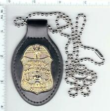 """Children's Halloween Prop Badge in a Leather Neck Hanger with 30"""" Beaded Chain"""