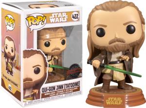 Qui-Gon Jinn Tatooine 422 ATG STAR WARS FUNKO Pop Vinyl NEW in Box + Protector