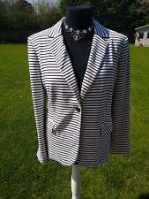 Jeager 16 Blue White Striped Jacket Blazer Ladies