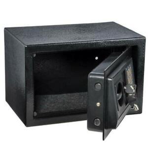 Digital Steel Safe Electronic Locking Money  Strongbox Cash Box Key Black