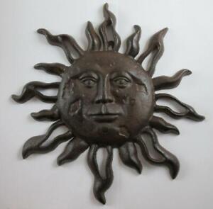 Cast Iron Sun Wall Plaque Celestial Wall Decor Sun Face Garden Gift Gifts
