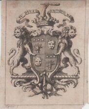 Ex-libris François MICHEL de LÉON (Marseille, 1727-1800) - Provence.