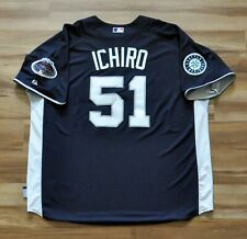 ICHIRO SUZUKI Authentic 2008 All-Star New York Jersey Majestic SEWN Blue 2XL