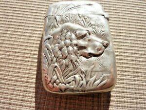 Vintage Sterling Silver Match Safe Gorham with Setter? Dog Profile (39449)