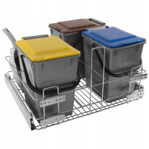 Pull-Out Kitchen Waste Bin Soft-Close - 600mm Cabinet
