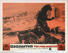 GODZILLA RAIDS AGAIN/GIGANTIS THE FIRE MONSTER orig 1959 lobby card poster #7