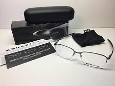 NIB Oakley Wingfold 0.5 Brushed Chrome Frames Titanium Eyeglasses OX5101-0353