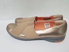 ROCKPORT Walkability Gold Leather ADIPRENE by Adidas Slip On Shoes Women Size 8M