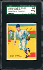 1934-36 (1936) Diamond Stars #101 Dick Bartell  SGC 88 Lionel Carter Collection!