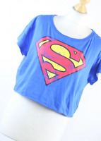 H&M Blue Graphic Cotton Womens Graphic Tee Size S (Regular)
