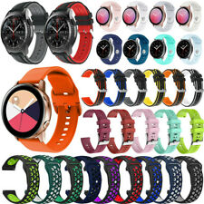 For Samsung Galaxy Watch 42mm 3 41mm/Active 2 40/44mm Sport Silicone Band Strap