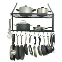 GlidenGet Pull-Out Hanging Pot and Pan Rack Cookware ...