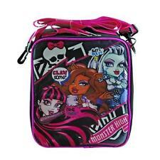 Monster High Dolls Mattel Cute School Gift Kids Pack Canvas Tote Lunch Bag