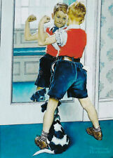 Norman Rockwell The Muscleman 8 x 10 Art Print