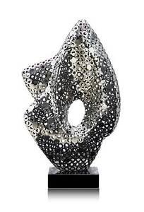 Außergewöhnliche Edelstahl Skulptur auf Hochglanz poliert. Hochwert. Handarbeit