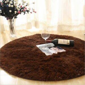 Fluffy Round Rug Carpets For Living Room Decor Faux Fur Long Plush Modern Mat