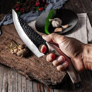 Handmade Stainless Steel Kitchen Boning Knife Chef Butcher Meat Cooking Knives