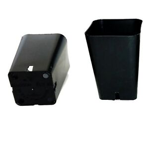 """Set of 100 Rose pots 2 1/4"""" sq x 3 1/4"""" Deep Seed Starting Black Quality Durable"""