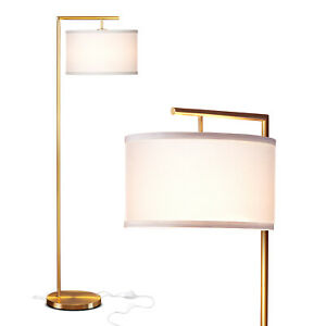 Brightech Montage Modern Standing Floor Smart Lamp with LED Light, Antique Brass
