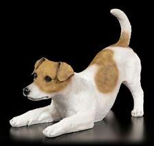 Gartenfigur Hund - Verspielter Jack Russel - Niedlicher Welpe Deko Statue