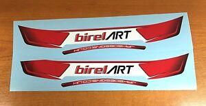BIREL ART STYLE HELMET VISOR STICKERS/STRIPS - 2 x Visor Stickers - KARTING