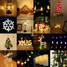 Weihnachts LED Lichter Weihnachtsbaum Deko Fensterdeko Lichterkette Nachtlicht