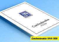 COLOR PRINTED CZECHOSLOVAKIA [CLASS.] 1918-1939 STAMP ALBUM PAGES (41 ill pages)