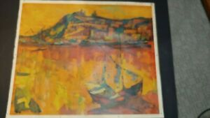 VINCENZO MONTI rare to find Italian mid-century abstract lithograph rendition of