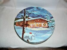 SWISS KRINGLE HOLIDAY TIN~STORE~SNOWY MOUNTAINS~MAILBOX