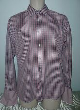 TM Lewin Red white and blue check size mediium slim fit
