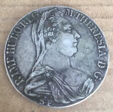Original 1780 ST-S.F.  Austria Hungry Milan 1 Thaler Silver Coin M.Theresa D09