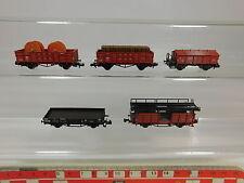 AQ919-1# 5x Fleischmann piccolo Escala N/DC vagones de productos de bricolaje DB