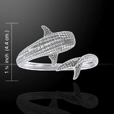 Whale Shark .925 Sterling Silver Cuff Bracelet by Peter Stone