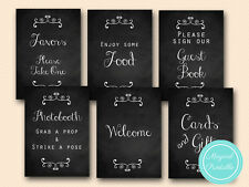 Print Yourself Chalkboard, Wedding Signs, Bridal, Signs, Baby Shower sn30