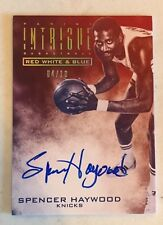 2013-14 Panini Intrigue Red White & Blue On Auto Spencer Haywood #D /10 Knicks