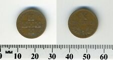 Portugal 1955 - 10 Centavos Bronze Coin - Circles within cross